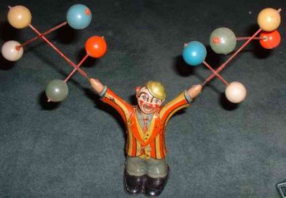 kuramochi tin toy juggling clown balls ck