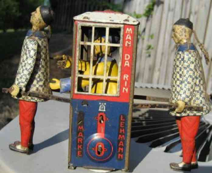lehmann 565 tin toy mandarin sedan chair