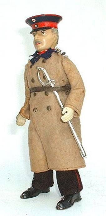 lehmann 580 tin toy captain of koepenick clockwork
