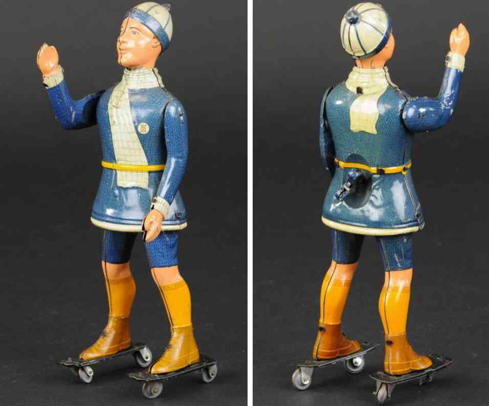 lehmann 670 tin toy primus roller skater