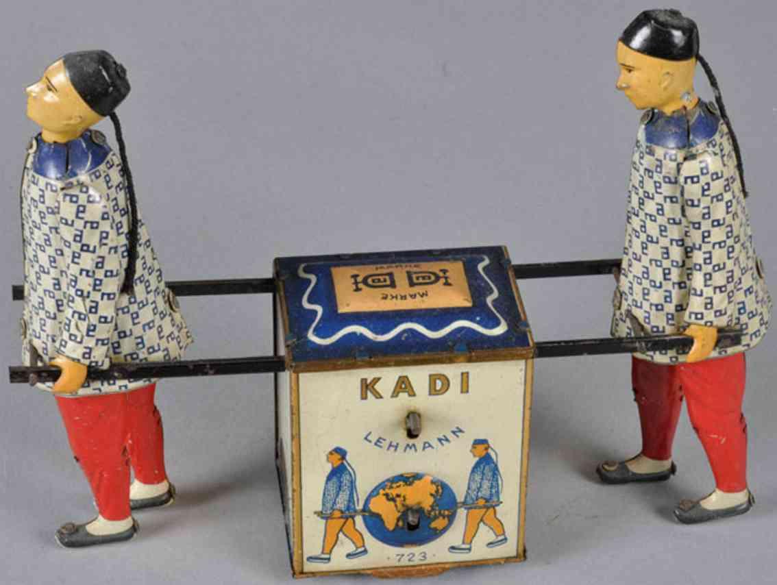lehmann 723 kadi tin toy two chinese tea chest string drive
