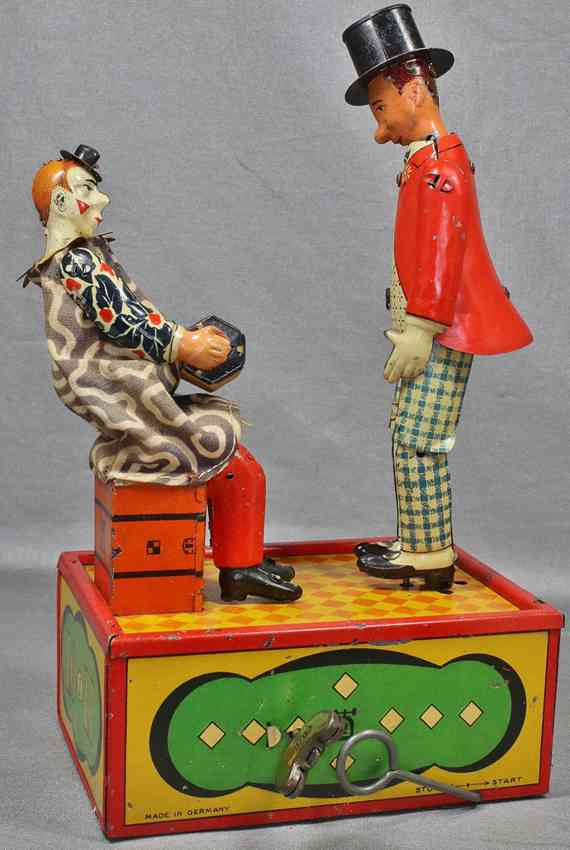 lehmann 769 tin toy lo & li with clockwork the merry musicians