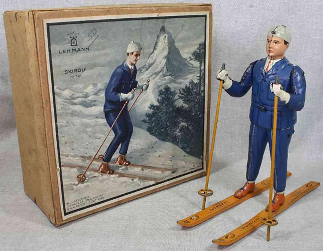 lehmann 781 blech spielzeug ski rolf