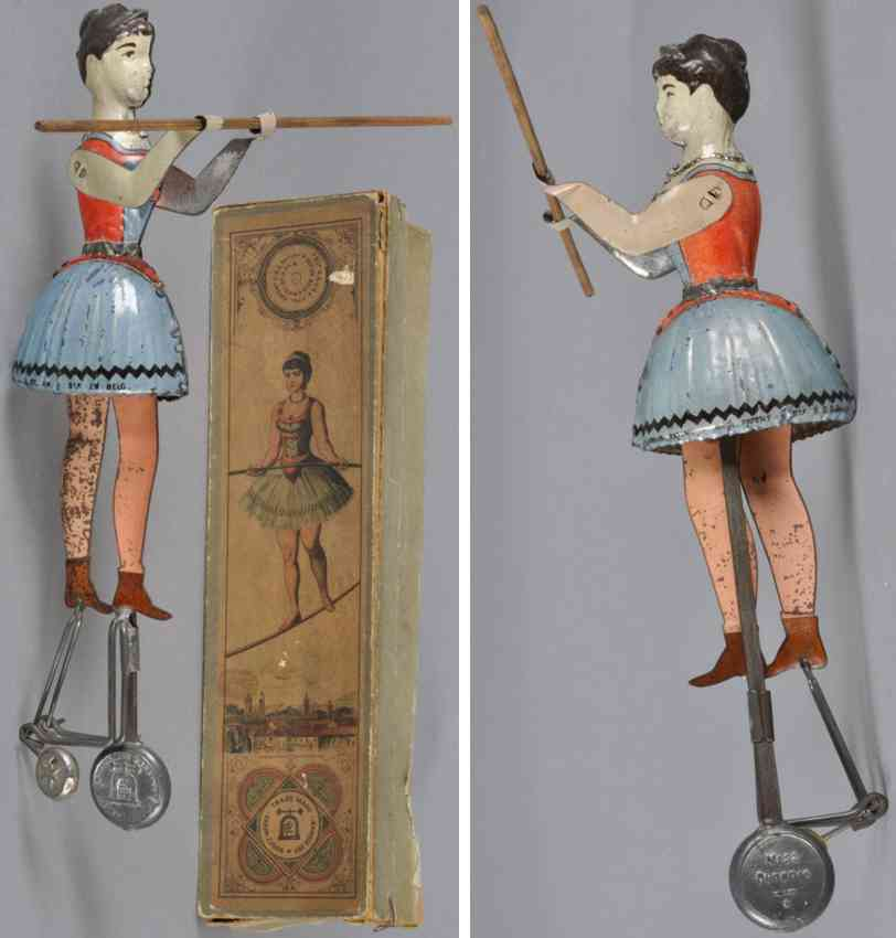 lehmann blech spielzeug seiltaenzerin balancierstab pendelgewicht
