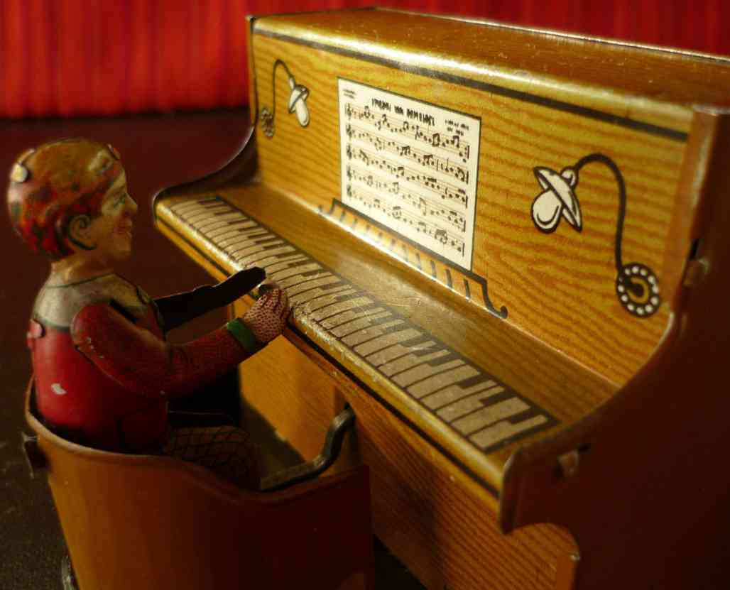 levy george gely blech spielzeug student als pianist musibox kurbel