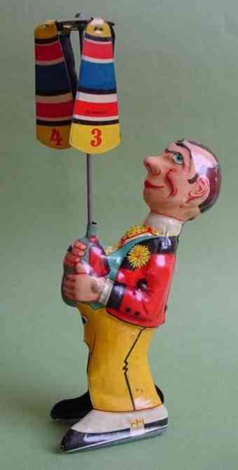 levy george gely blech spielzeug zirkusfigur mit uhrwerk jonglierender clown