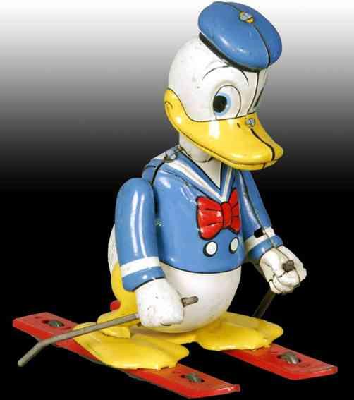 linemar walt disney donald duck skiing