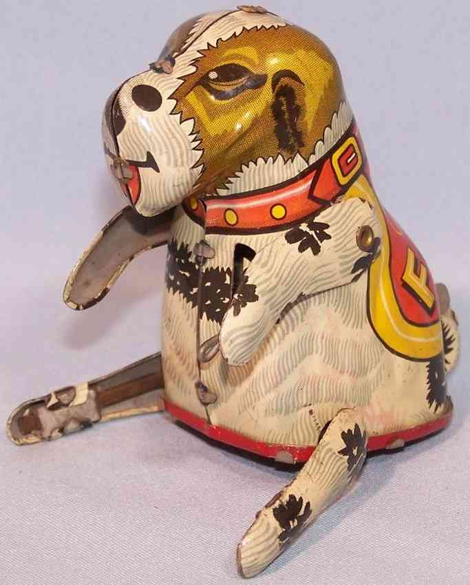 linemar tin toy rollover dog flippo watch me jump