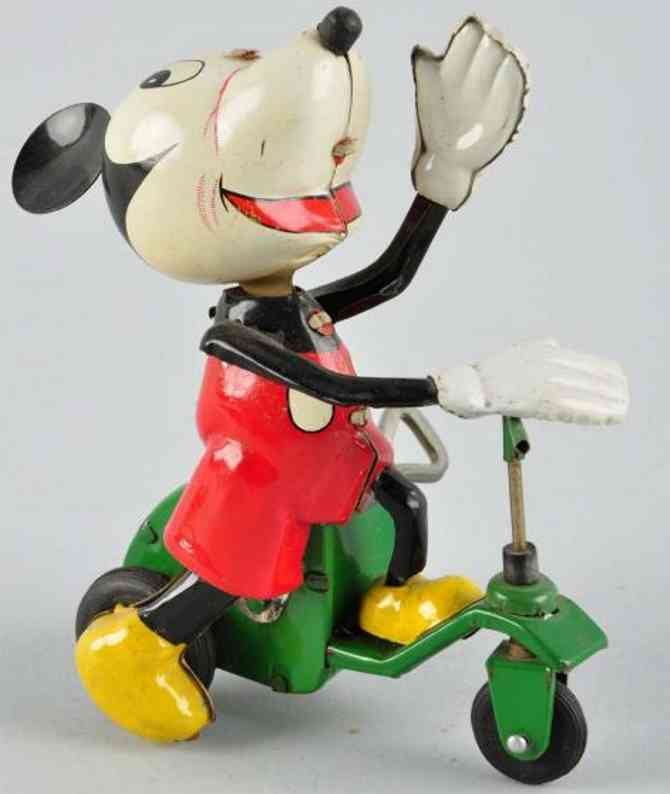 linemar tin toy disney mickey on scooter