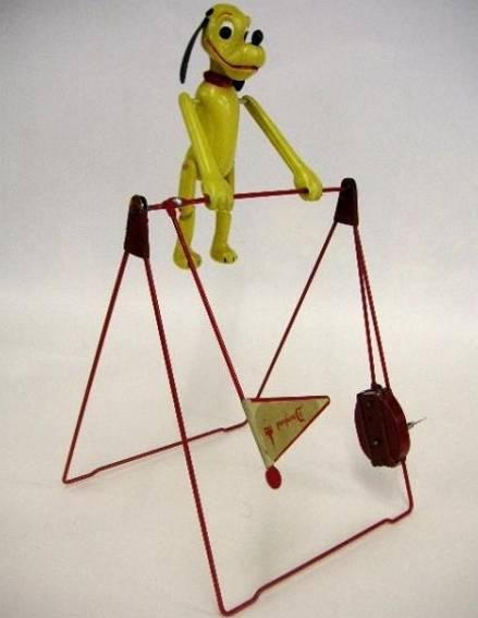 linemar acrobat blech spielzeug pluto  zirkusakrobat uhrwerk