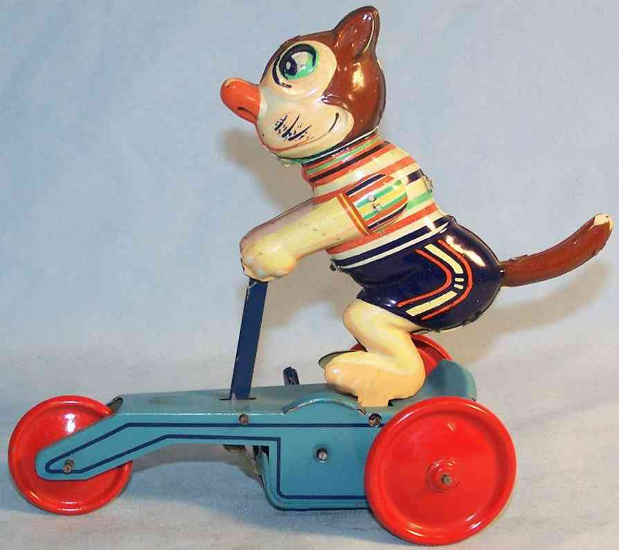 ms-veb 650 tin toy cat bonzo on tricycle