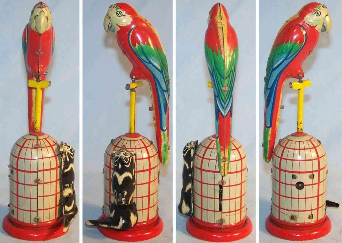 ms-veb 659 tin toy parrot game clockwork
