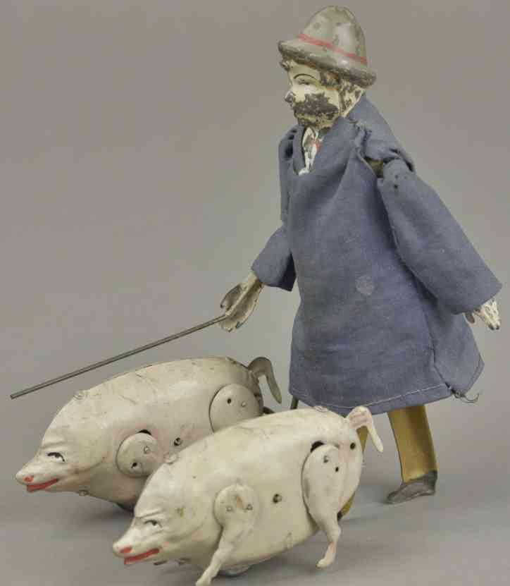 martin fernand 226 blech spielzeug le marchand de cochons schweinehändler uhrwerk