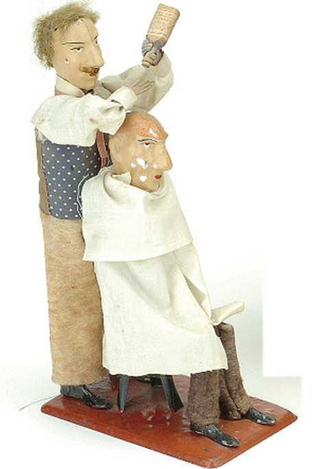 martin fernand 196 blech spielzeug l'artiste capillaire friseur mit uhrwerk