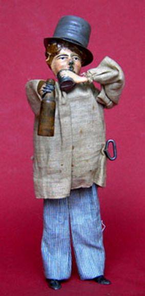 martin fernand 172 blech spielzeug le pochard trinker uhrwerk