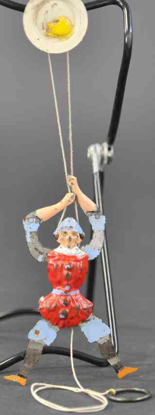 martin fernand 152 tin toy le pantin mecanique red