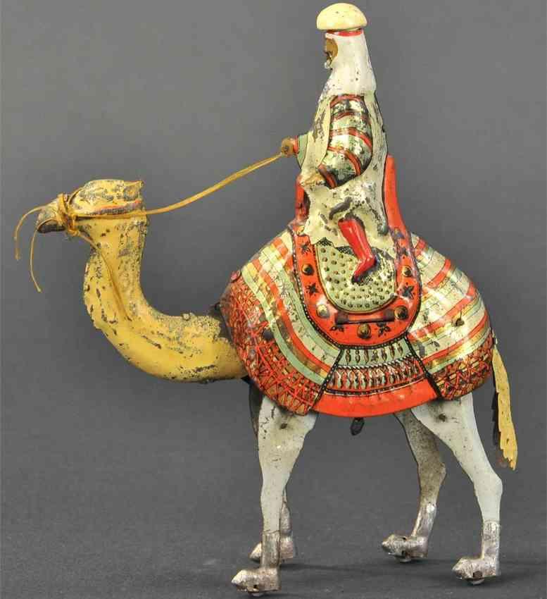 martin fernand tin toy le sherif arab on camel rubber band mechanism