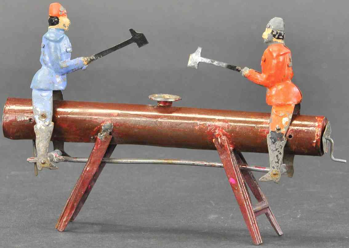 martin fernand 7 tin toy les forgerons infatigables the tireless blacksmiths red