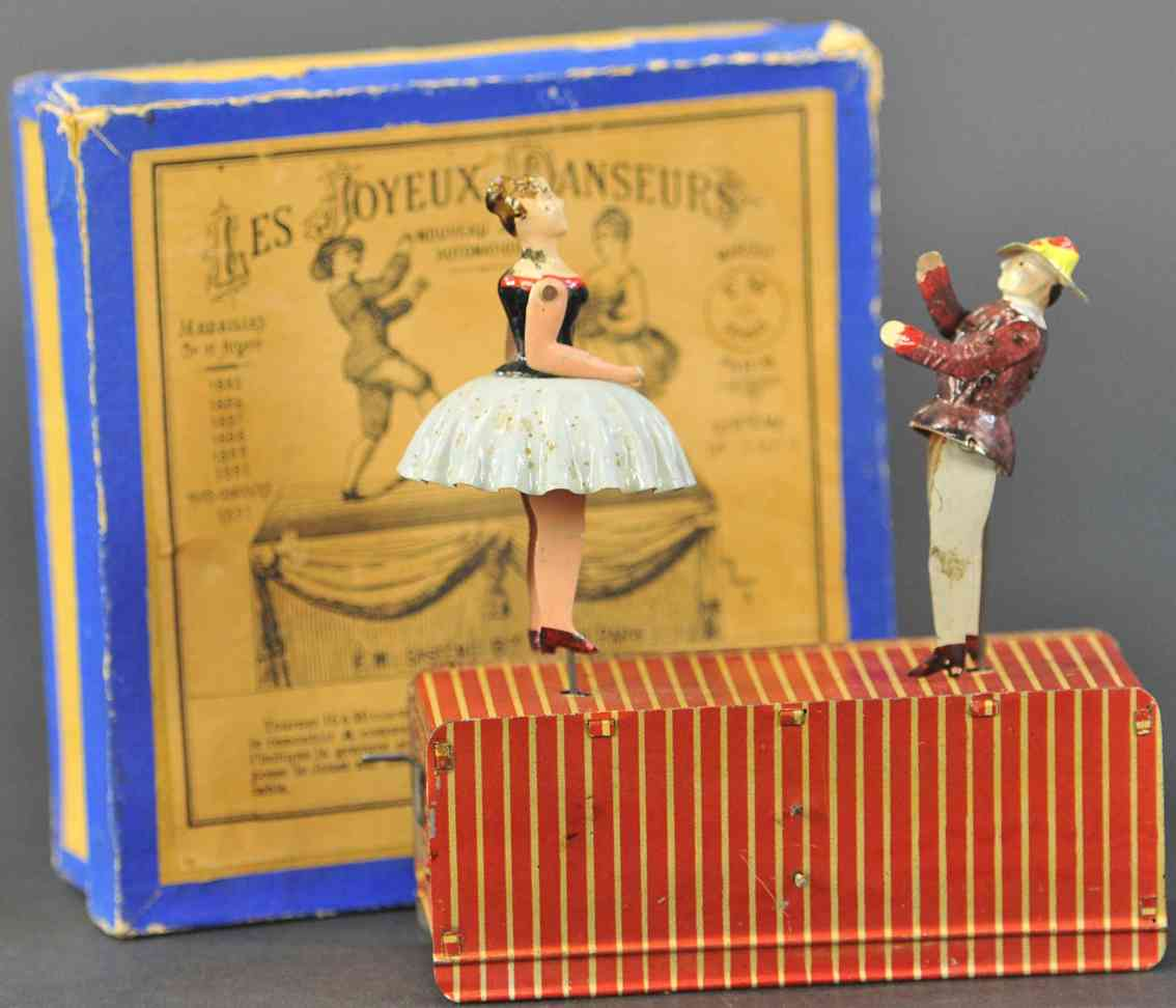 martin fernand 23 tin toy les joyeux danseurs ballet dancers rubber band