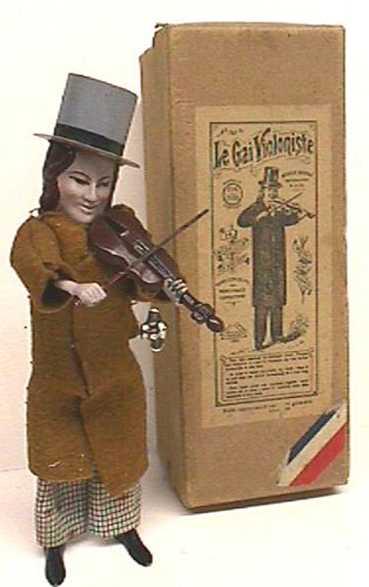 martin fernand 160 blech spielzeug le gai violinist uhrwerk