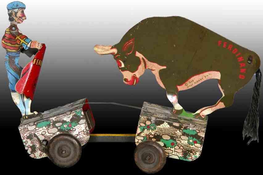 marx louis tin toy wind-up ferdinand & matador