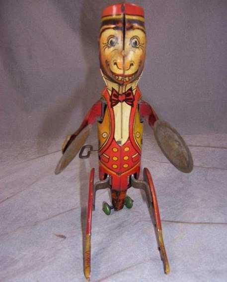 Marx Louis  Hoppo mit Uhrwerk und Zimbel, aufgezogen tanzt der Affe