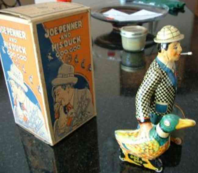 marx louis 650 tin toy joe penner and his duck goo goo