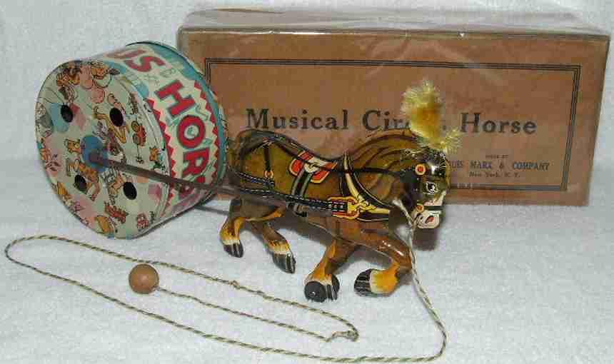 marx louis blech spielzeug zirkuspferd