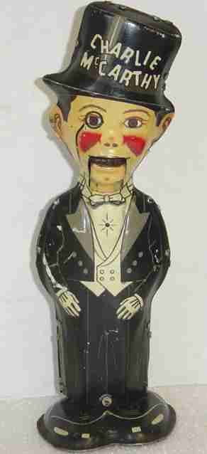 marx louis tin toy charlie mccarthy walker