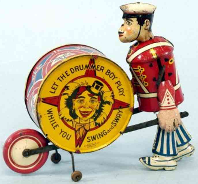 marx louis boy drum blech spielzeug junge mit trommel