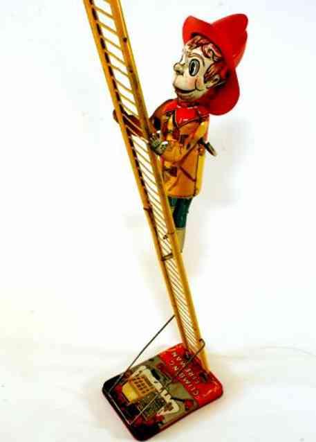 Marx Climbing Fireman tin litho wind-up