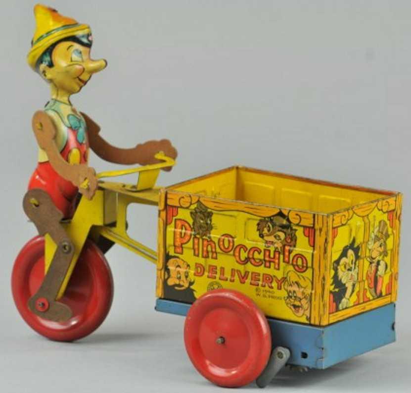 marx louis blech spielzeug pinocchio lieferwagen walt disney production