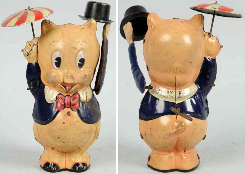 marx louis blech spielzeug schweinchen dick mit zylinder