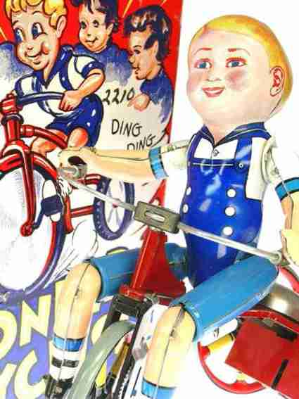 marx louis tin wind-up toy wonder cyclist