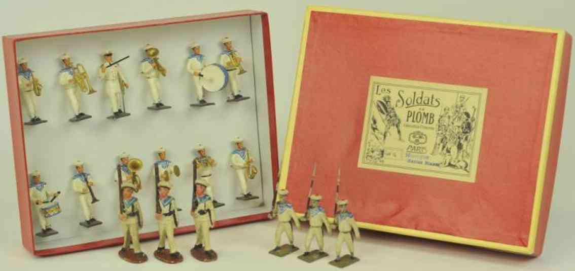 mignot cbg blech spielzeug franzoesische blaskapelle matrosen