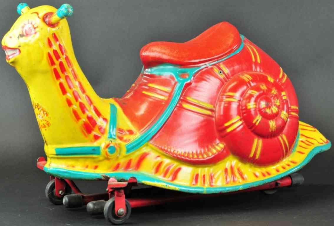 mobo toys stahlblech spielzeug schnecke furr kinder zum reiten