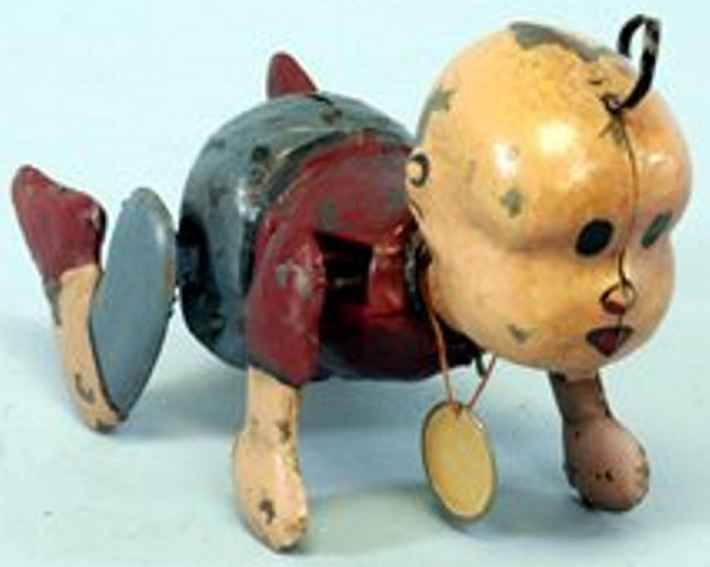 murphy j tin toy buttercup and-painted comic character figure, quite whimsica