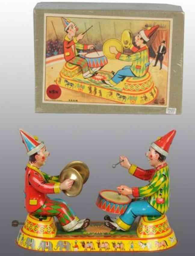 NBN Nürnberger Blechspielwaren Zwei Clowns
