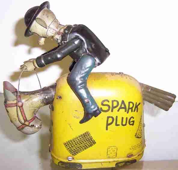 nifty manufacturing blech spielzeug barney reitet auf spark plug