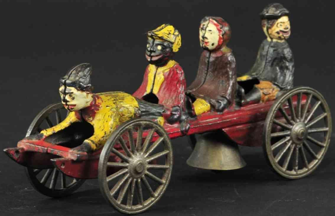 n.n. hill brass co glockenspielzeug gusseisen schlitten vier kindern