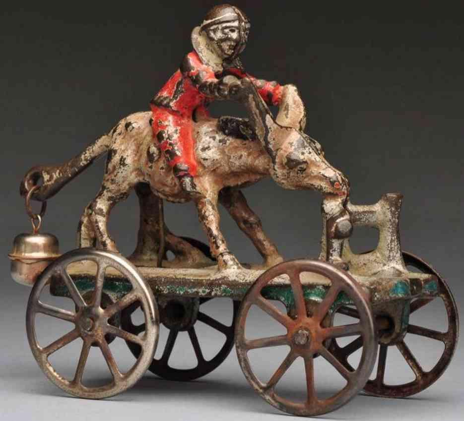 N.N. Hill Brass Co Iahender Esel als Glockenspielzeug aus Gusseisen
