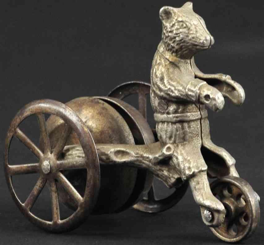 n.n. hill brass co spielzeug gusseisen teddybaer mit glocke