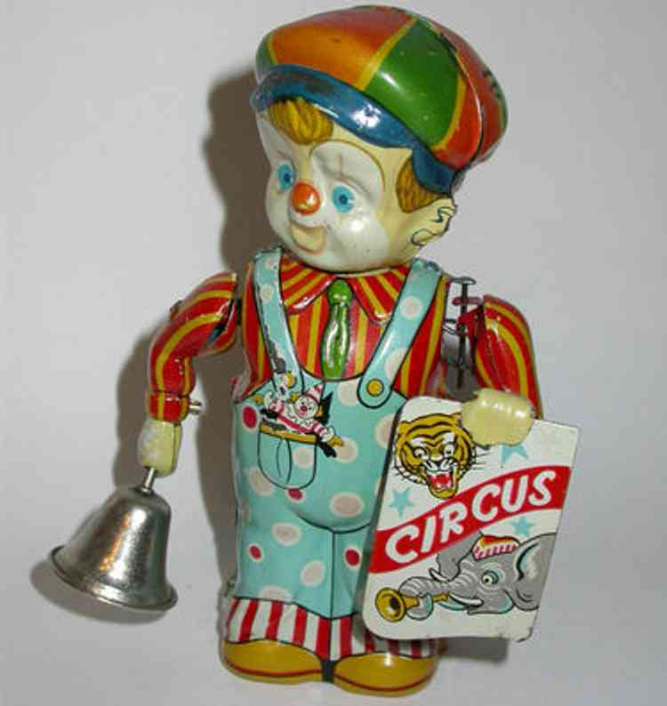 nikko toy industry tin toy circus boy wind-up toy