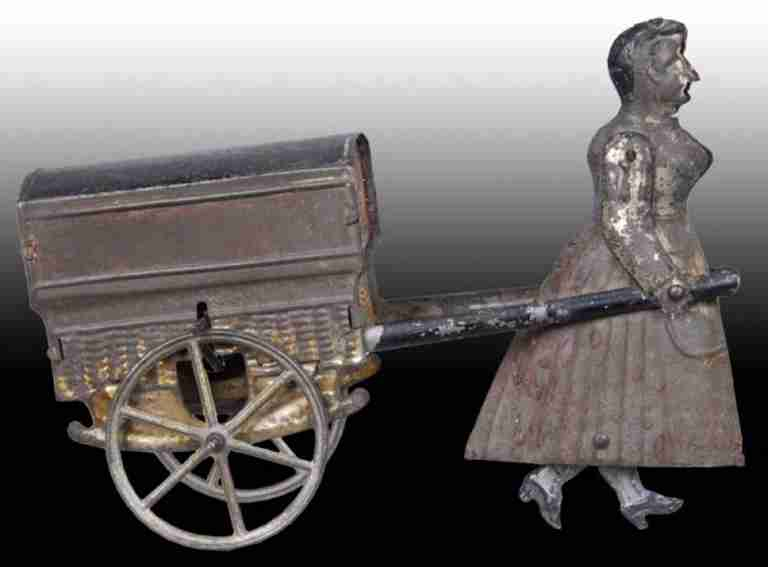 RF Early French Flywheel Woman Pulling Cart