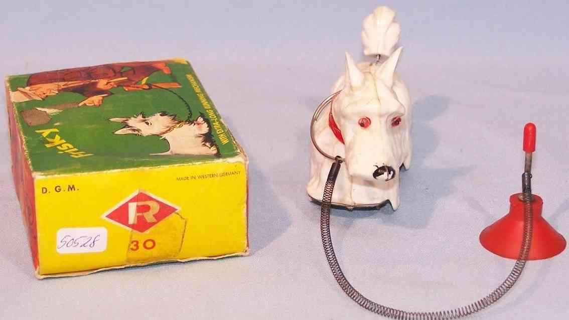 ruehl 30 blech spielzeug hund frisky lauffigur an laufleine