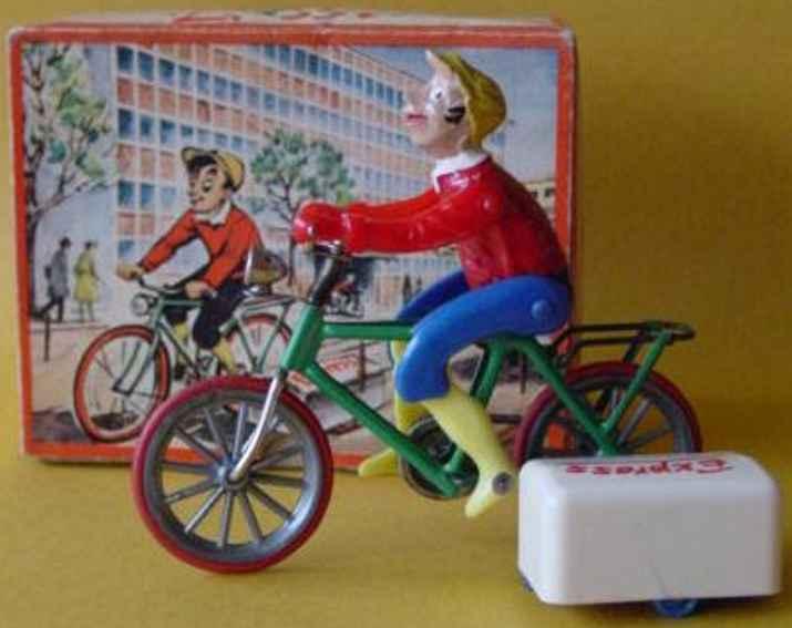 ruehl 32 blech spielzeug express jonny fahrradfahrer mit uhrwerk