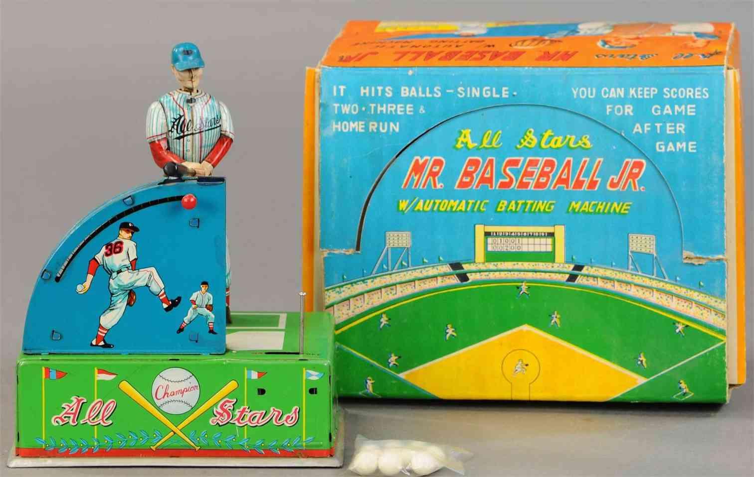sankei kogyo tin toy mr baseball jr automatic batting machine