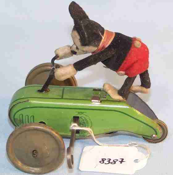 schuco 853 tin toy mickey mouse clockwork-powered scooter