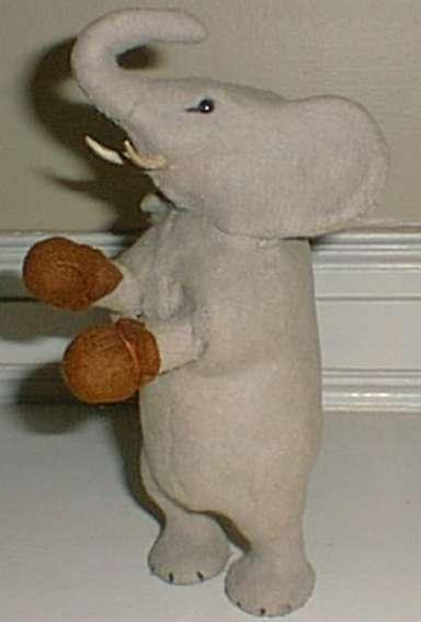 schuco blech spielzeug boxender elefant