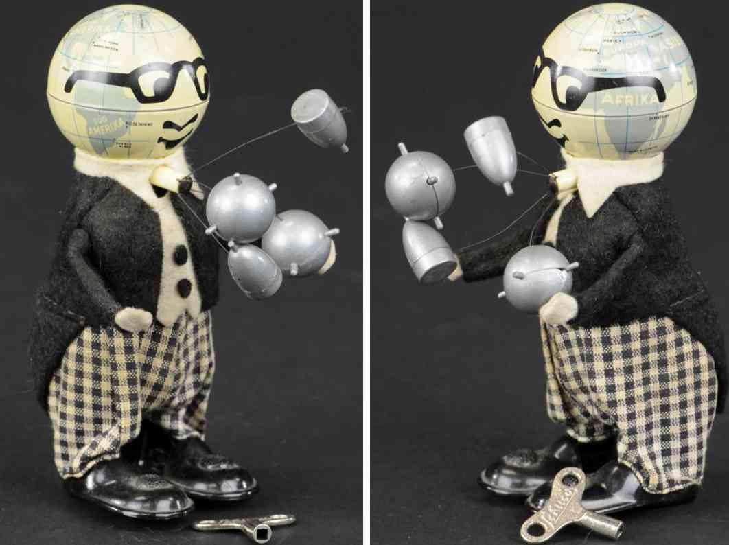 schuco blech spielzeug mister atom kopf globus